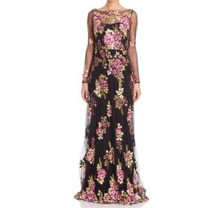 Marchesa Notte Embroidered Tulle Gown size 8